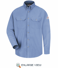 SMU2LB Cool Touch® II Light Blue Button Front Deluxe Shirt HRC2