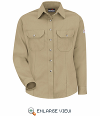 SMU3KH Cool Touch® II Women's Khaki Button Front Deluxe Shirt