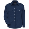 SMU3NV Cool Touch® II Women's Navy Button Front Deluxe Shirt