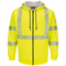 SMZ4 Bulwark Hi Vis Zip-Up Hooded Fleece Sweatshirt