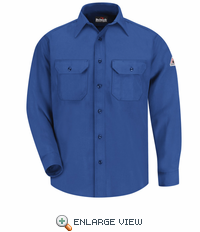SND6RB NOMEX IIIA 6oz. Royal Blue Button Front Deluxe Shirt