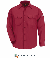 SND6RD NOMEX IIIA 6oz. RED Button Front Deluxe Shirt