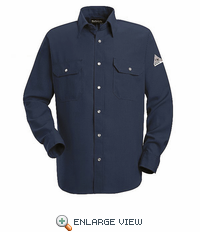 SNS2NV Navy Snap-Front Uniform Shirt-Nomex® IIIA-4.5 oz.