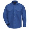SNS6RB Men's Royal BlueNOMEX® IIIA 6oz. SNAP FRONT DELUXE SHIRT