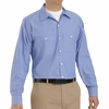 SP10BW Long Sleeve Industrial GM Blue/White Stripe Work Shirt