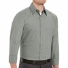 SP10HK Long Sleeve Hunter-Green/Khaki Micro-Check Work Shirt