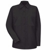 SP13 Women's Solid Long Sleeve Work Shirt