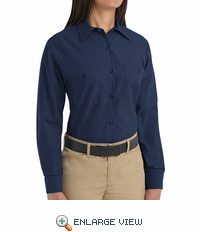 SP13NV Women's Navy Long Sleeve Work Shirt