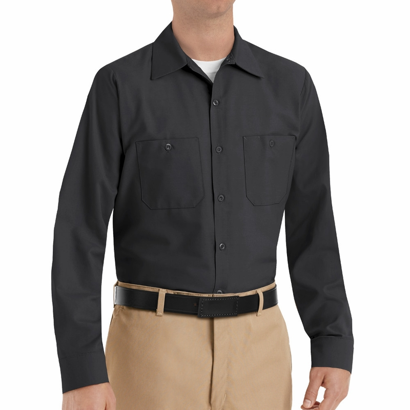 SP14BK Men's Black Long Sleeve Shirt