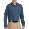 SP14DB Men's Dark Blue Long Sleeve Industrial Work Shirt