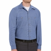 SP14DN Long Sleeve Denim Blue Microcheck Work Shirt