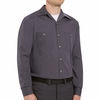 SP14GB Long Sleeve Blue/Charcoal Geometric Microcheck Work Shirt