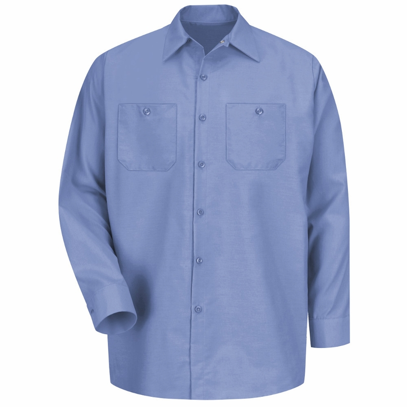 sp14lb men 39 s light blue long sleeve industrial work shirt