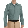 SP14LG Men's Light Green Long Sleeve Industrial Work Shirt