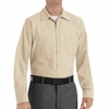 SP14LT Men's Light Tan Long Sleeve Industrial Work Shirt