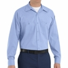 SP14ML Med Blue with Blue Twin  Durastripe � Long Sleeve Work Shirt