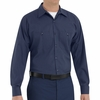 SP14NL Navy /Lt.  Blue Twin  Durastripe � Long Sleeve Work Shirt