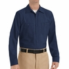SP14NV Men's Navy Long Sleeve Industrial Work Shirt