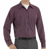 SP14RC Charcoal/Red Twin  Durastripe � Long Sleeve Work Shirt