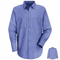 SP14SD Men's LS Solid Extended Size Work Shirt