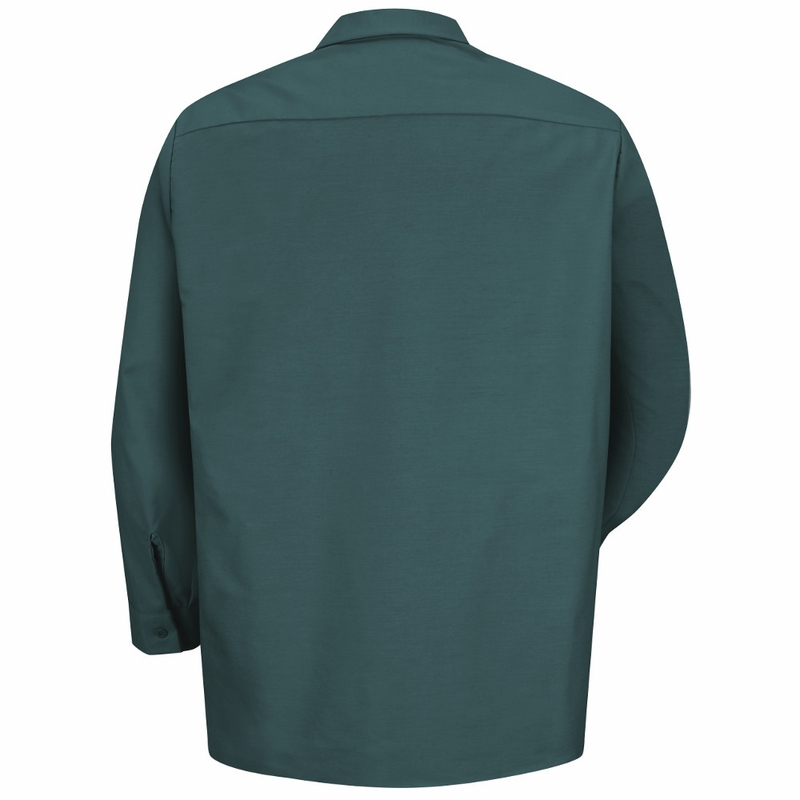 Powerblock Singapore: SP14SG Men's Spruce Green Long Sleeve Industrial Work Shirt