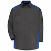 SP18CR Long Sleeve Charcoal/Royal Motorsports Image Shirt