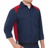 SP18RN Long Sleeve Red/Navy Motorsports Image Shirts