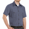 SP20EX Short Sleeve Blue/Charcoal Micro-Check Work Shirt