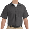 SP24CH Men's Charcoal Short Sleeve Industrial Work Shirt