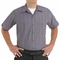 SP24CR Short Sleeve Charcoal/Red/White Stripe Industrial  Work Shirt