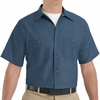 SP24DB Men's Dark Blue Short Sleeve Industrial Work Shirt