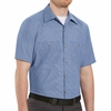 SP24DN Short Sleeve Denim Blue Microcheck Work Shirt