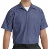 SP24EX Short Sleeve Gray/Blue Stripe Industrial  Work Shirt