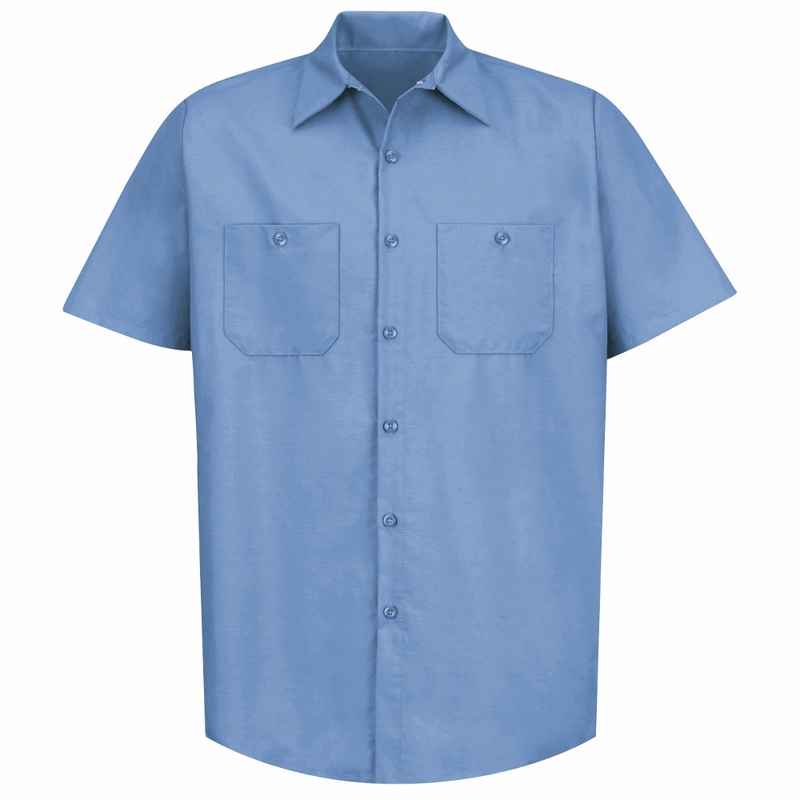 sp24lb men 39 s light blue short sleeve industrial work shirt
