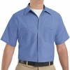 SP24MB Men's Petrol Blue Short Sleeve Industrial Work Shirt