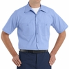 SP24ML Medium Blue with Blue Twin  Durastripe Short Sleeve Work Shirt