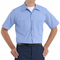 SP24ML Medium Blue with Blue Twin  Durastripe ™ Short Sleeve Work Shirt