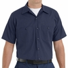 SP24NL Navy/Light Blue Stripe Twin  Durastripe Short Sleeve Work Shirt