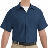 SP24NV Men's Navy Short Sleeve Industrial Work Shirt