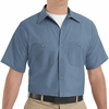 SP24PB Men's Postman Blue Short Sleeve Industrial Work Shirt