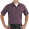 SP24RC Charcoal/Red Twin Stripe DuraStripe™ Short Sleeve Work Shirt