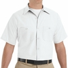 SP24WH Men's White Short Sleeve Industrial Work Shirt