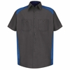 SP28CR Short Sleeve Charcoal/Royal Motorsports Image Shirt
