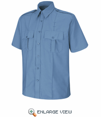 SP46MB Short Sleeve Medium Blue Upgraded Security Shirt