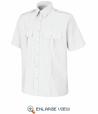 SP46WH Short Sleeve White Upgraded Security Shirt