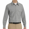 SP50LA Long Sleeve Light Gray Poplin Solid Dress Uniforms Shirt
