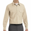 SP50LT Long Sleeve Light Tan Poplin Solid Dress Uniforms Shirt