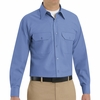 SP50MB Long Sleeve Petrol Blue Poplin Solid Dress Uniforms Shirt