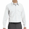 SP50WH Long Sleeve White Poplin Solid Dress Uniforms Shirt