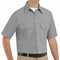 SP60LA Short Sleeve Light Gray Poplin Solid Dress Uniforms Shirt